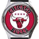 Chicago Bulls Round Metal Watch