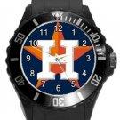 Houston Astros Plastic Sport Watch In Black