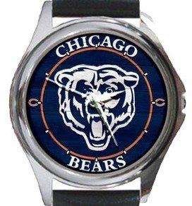 Chicago Bears Round Metal Watch