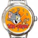 Tom & Jerry Round Italian Charm Watch