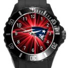 The New England Patriots Plastic Sport Watch In Black