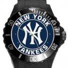 New York Yankees Plastic Sport Watch In Black