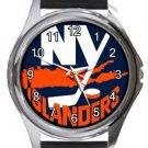 New York Islanders Round Metal Watch