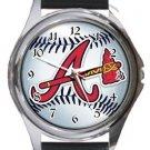Atlanta Braves Round Metal Watch