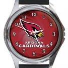 Arizona Cardinals Round Metal Watch