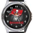 Tampa Bay Buccaneers Round Metal Watch