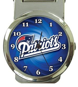 New England Patriots Money Clip Watch