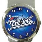 New England Patriots Money Clip Watch