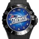 New England Patriots Plastic Sport Watch In Black