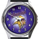 Minnesota Vikings Round Metal Watch