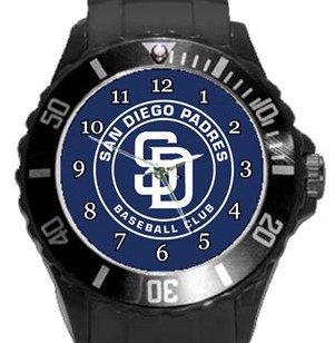 San Diego Padres Plastic Sport Watch In Black