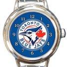 Toronto Blue Jays Round Italian Charm Watch