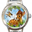 Cute Bambi Round Italian Charm Watch