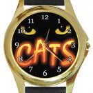 Cats Gold Metal Watch