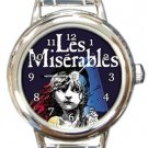 Les Miserables Round Italian Charm Watch