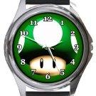Super Mario Brothers Mushroom Round Metal Watch