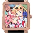Sailor Moon and Sailor Chibi Moon Rose Gold Leather Watch