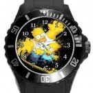 Bart and Homer Simpson Plastic Sport Watch In Black