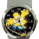 Bart and Homer Simpson Money Clip Watch