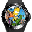 Bart Simpson Plastic Sport Watch In Black
