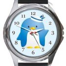 Tuxedo Sam Round Metal Watch
