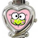 Cute Keroppi Heart Italian Charm Watch