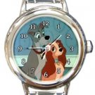 Cute Lady and the Tramp Round Italian Charm Watch