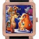 Lady and the Tramp Rose Gold Leather Watch