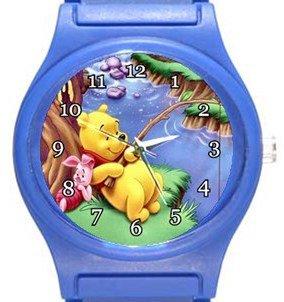 Winnie The Pooh Fishing Blue Plastic Watch