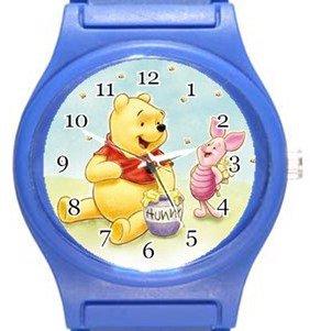 Cute Winnie The Pooh Blue Plastic Watch