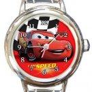 Cars Lightning McQueen Round Italian Charm Watch