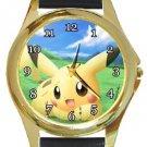 Pikachu Gold Metal Watch