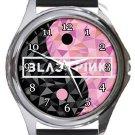 Blackpink Round Metal Watch