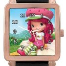 Strawberry Shortcake Rose Gold Leather Watch