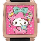 Hello Kitty Rose Gold Leather Watch
