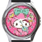 Hello Kitty Round Metal Watch