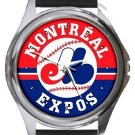 Vancouver Canucks Round Metal Watch