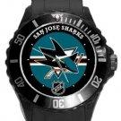 San Jose Sharks Plastic Sport Watch In Black