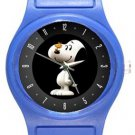 Cute Snoopy with Woodstock Blue Plastic Watch