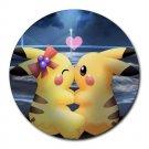 Pikachu Love Heat-Resistant Round Mousepad