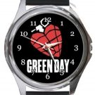 Green Day Round Metal Watch
