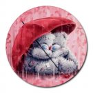 Together Forever Love Heat-Resistant Round Mousepad