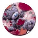 Teddy Bear Love Heat-Resistant Round Mousepad