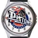 Detroit Pistons Round Metal Watch