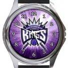 Sacramento Kings Round Metal Watch