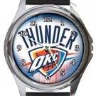 Oklahoma City Thunder Round Metal Watch