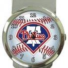 Philadelphia Phillies Money Clip Watch