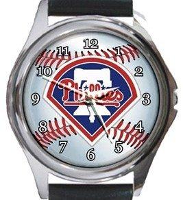 Philadelphia Phillies Round Metal Watch