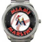 Miami Marlins Sport Metal Watch