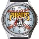 Pittsburgh Pirates Round Metal Watch